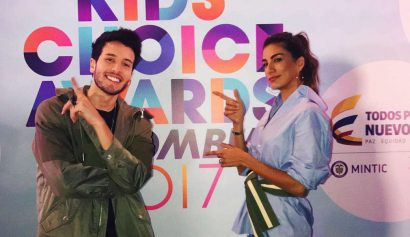 Sebastián Yatra y Andrea Serna en Kids' Choice Awards Colombia 2017