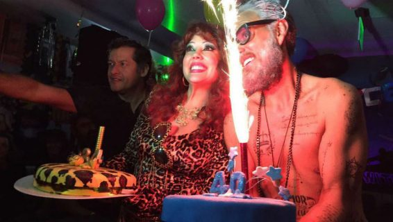 Andrés Parra festejó su cumpleaños al estilo de Gianluca Vacchi