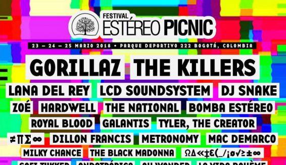 Confirmada toda la programación para el Festival Estéreo Picnic 2018
