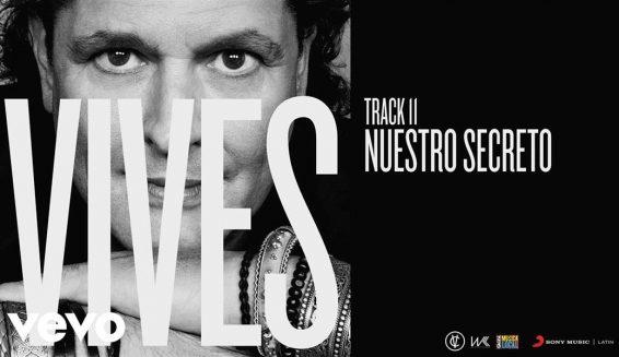 Carlos Vives presenta su nuevo sencillo titulado 'Nuestro Secreto'