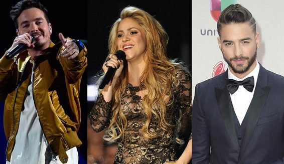J Balvin, Shakira y Maluma lideran nominacion en Billboard Latino 2018