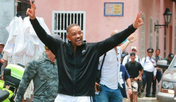 Will Smith está feliz de grabar la película 'Gemini Man' en Cartagena
