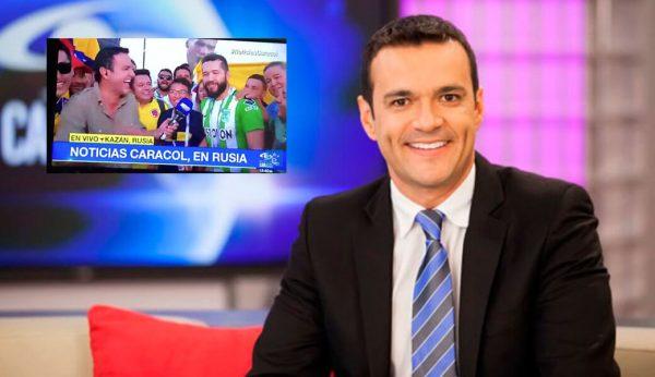 El chiste que Juan Diego Alvira hace a hincha de Nacional