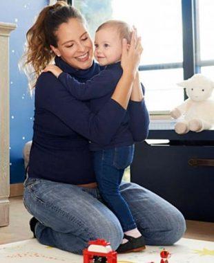 En fotos, Laura Acuña presentó a su recién nacido hijo Nicolás